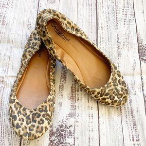 Lucky Brand Cheetah Emmie Leather Ballet Flats
